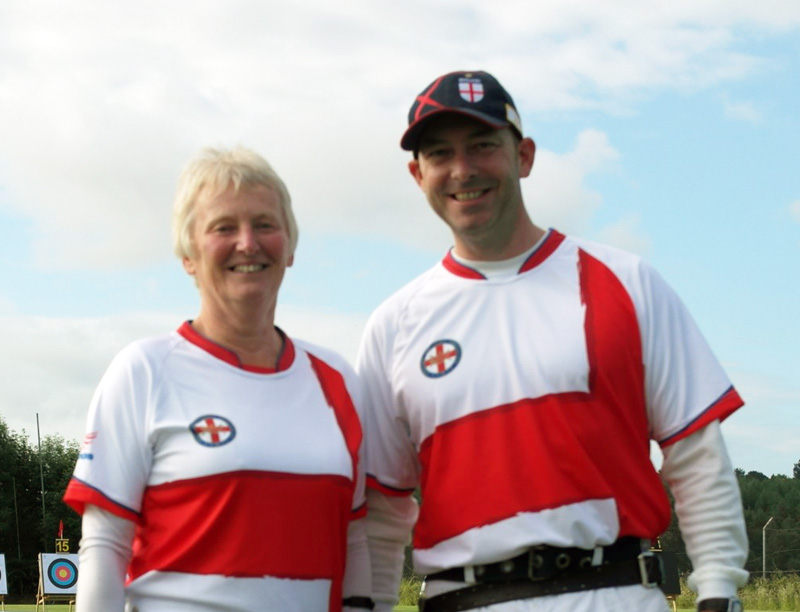 Pauline Burfitt and Mark Rudd Shoot for England at the Euronations