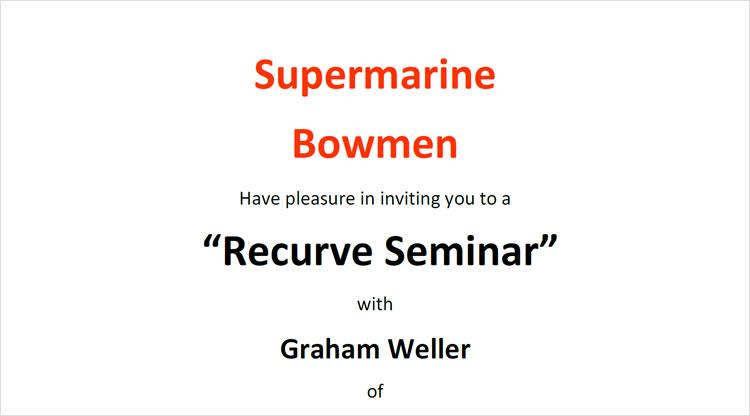 Supermarine Bowmen – Recurve Seminar (12/11/2017)