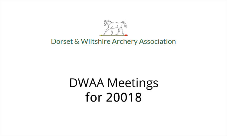 Meeting time and dates for 2018