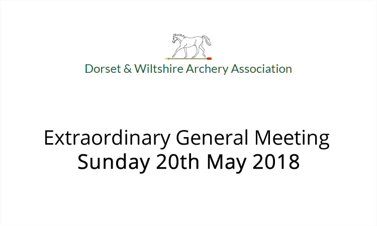 Extraordinary General Meeting Sunday 20th May