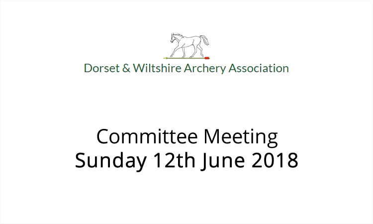 Committee meeting 12th June 2018