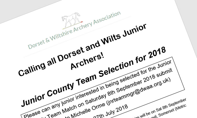 Calling all Dorset and Wilts Junior Archers!